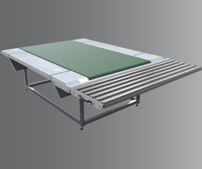 RFR Roller table with tippable idle rollers